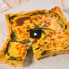 Quiche de chile poblano